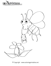 This website have a lot of printable content and products for your class! Free Printable Spring Bee Coloring Page