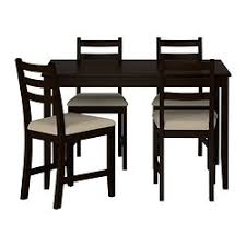 4 chair kitchen table: lerhamn table and  chairs black brown vittaryd beige length