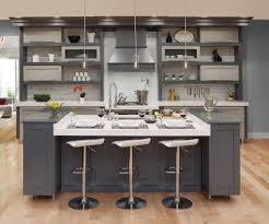 Contemporary Two Toned Grey Kitchen Covered Bridge Cabinetry