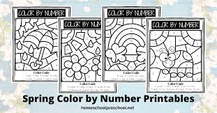 Click on the thumbnail of each spring coloring page to open up a new window from which to print. Free Spring Color By Number Printables For Preschoolers