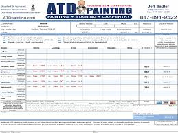 painting estimate form anuvrat info exterior paint estimate jottincury