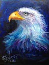 sd painting eagle in oils lysa roberts you