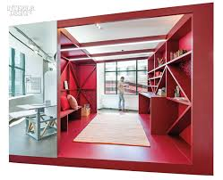 Oampa Designcollector Studio Oa Creates Colorful Nooks For Kimball Offices Chicago Showroom