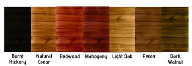 Ready Seal Color Chart Ready Seal Stain Sealer Hammond Lumber Companny