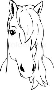 Very Haired Horse Head Isolated Stock Vector Colourbox