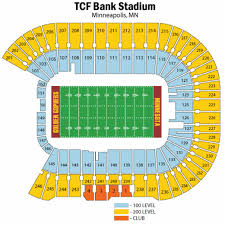Tcf Bank Stadium Seating Map Map 2018