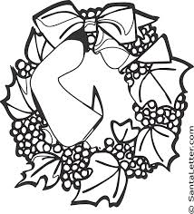 Christmas Wreath Coloring Pages At Santalettercom