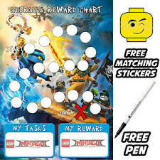 Lego Batman Reward Chart Reusable Behaviour Lego Ninjago Reward Chart Free Stickers