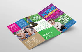 Fun Brochure Templates Free Kids Camp Flyer Brochure Template In Psd Ai