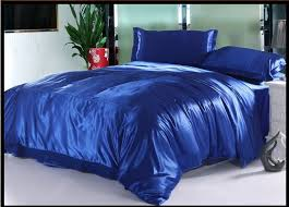royal blue silk bedding set sheets satin queen full twin quilt duvet cover cal king size bed in a bag linen bedspreads luxury in bedding sets from home