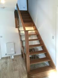 open tread stairs. Simple Stairs Open Tread Oak Stairs Shaped Glass Balustrade Carpet  And Open Tread Stairs S