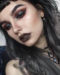 kmartxna grunge makeup goth eye makeup witchy makeup witchy nails