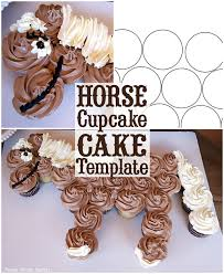 Horse Cupcake Cake How To W Free Template By Press Print Party
