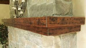 rustic mantel beam