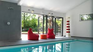 bi fold door at swimmingpool