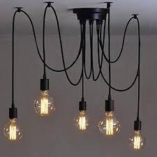 Multiple pendant lighting fixtures Kitchen Island Heads E27 Industrial Chandelier Adjustable Diy Ceiling Spider Light Pendant Lamp Duck Soup Coop Multi Pendant Light Amazoncouk