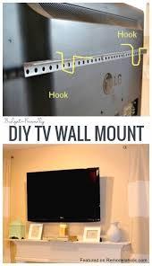 diy tv wall mount wall mounted tv