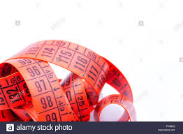 Red Tape Light Blur Red Tape Measure In The White Light Like Concept Of