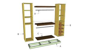 closet organizer plans howtospecialist how to build step by step diy plans