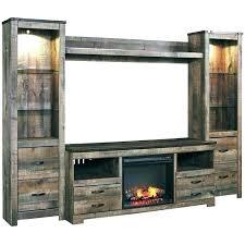 electric fireplace console corner farmington altra