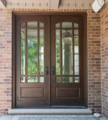 exterior double doors. Double Door, Clear Beveled Glass/ W Praise Grills, Pre-hung, Prefinished Custom Wood Front Entry Doors - From For Builders, Inc. Exterior O