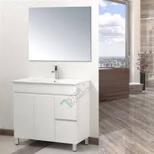 freestanding bathroom vanity. 900x460mm Bathroom Vanity Basin Cabinet Right Hand Side Drawers Freestanding NEW R