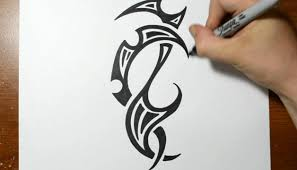 Drawing A Cool Tribal Tattoo Design Sketch 4