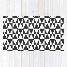 wonderful black and white geometric rug for black white geometric hipster triangles pattern rug by