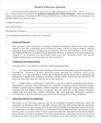 Mutual Confidentiality Agreement Unique Mutual Non Disclosure Agreement Template Tridentknights