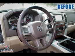 2010 2018 dodge ram 2500 leather steering wheel cover driver dark brown