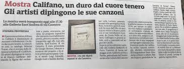 Giorgio Barassi artista dipingere le canzoni di Franco Califano