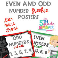 Prime And Odd Numbers Chart Even And Odd Numbers Poster Anchor Chart Freebie Star Wars Theme