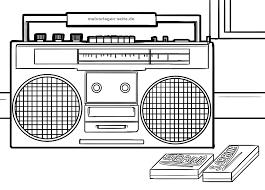 Kleurplaat Radio Gratis Kleurpaginas Om Te Downloaden