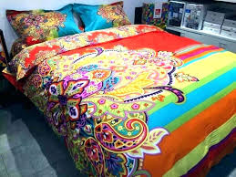 colorful queen comforter sets vaughndesign intended for remodel on fadfay cotton reversible bohemian bedding set queen
