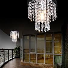 chandelier style modern ceiling light shade droplet pendant acrylic crystal bead