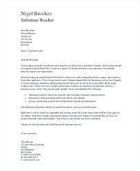 Teacher Cover Letter Sample Sample Substitute Teacher Cover Letter Substitute Teacher Cover