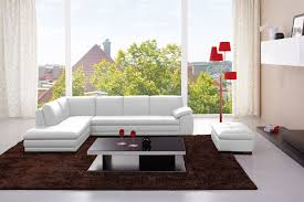 625 Italian Leather Modern Sectional Sofa