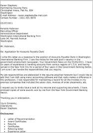 Accounts Payable Clerk Cover Letter Template Cover Letter