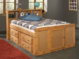 floor extraordinary full size bed frame with drawers 23 wood captain storage unit and bookshelves headboard