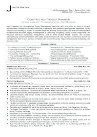 Construction Manager Resume Construction Manager Resume Example