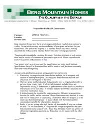Construction Proposal Template Free Download Create