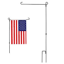 garden flag stand. Modchan Garden Flag Stand Flagpole, Black Wrought Iron Small For Yard E