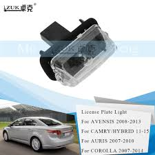 Toyota Camry License Plate Light Replacement Us 7 93 38 Off Zuk Rear License Plate Light Lamp For Toyota Verso 2009 2012 E Z Yaris Levin Camry Corolla 2007 2014 Auris Avensis 2008 2013 In