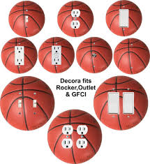 Sports Light Switch Plates Details About Coloriffic Basketball Wall Plate Switch Outlet