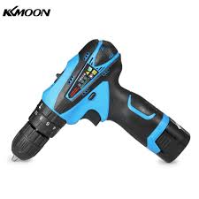 KKMOON 16.8V Lithium Ion Hai tốc độ Điện đa năng Máy Khoan không dây Sạc  Tua Vít có Đèn LED|Khoan Điện
