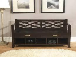 black hallway furniture. Decorations:Hallway Furniture Idea Feat Matte Black Storage Bench With Bottom Shelves Also Pullout Drawers Hallway W