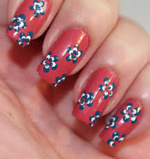 Day Five of the Seven Days of Floral Nail Art Tutorials - Dots ...