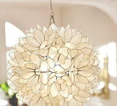 capiz light pendant lotus flower chandelier by roost capiz shell within lotus flower chandelier