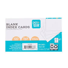 3x5 Cards Pen Gear Blank Index Cards White 100 Count