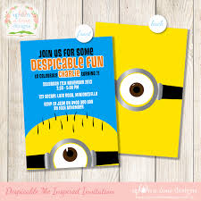 Minions Party Minions Girl Birthday Party Invitation Free Thank You Card